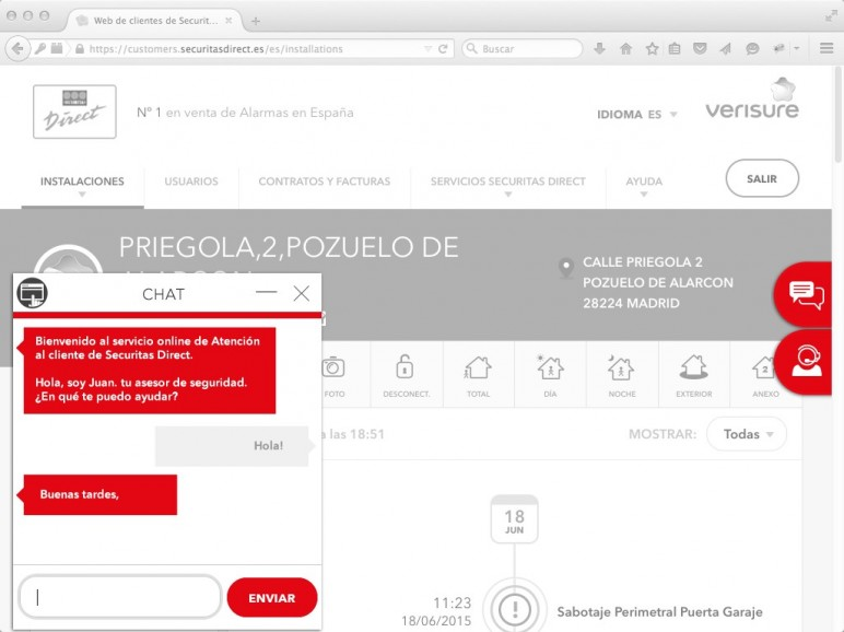 Securitas direct lanza un chat exclusivo de atenci n al cliente - Oficinas securitas direct ...